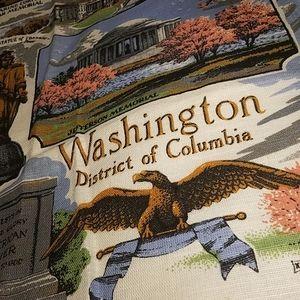 Vintage Washington DC Souvenir Cloth Panel